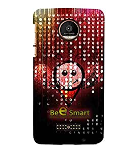 For Motorola Moto Z Force :: Motorola Moto Z Force Droid for USA bee Printed Cell Phone Cases, smart Mobile Phone Cases ( Cell Phone Accessories ), quote Designer Art Pouch Pouches Covers, attitude Customized Cases & Covers, smile Smart Phone Covers , Phone Back Case Covers By Cover Dunia