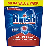 Finish Dishwasher Tablets, All in 1 Max Original, 80-Count