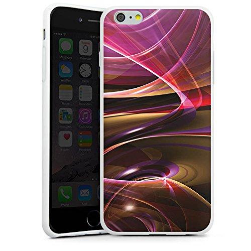 Apple iPhone X Silikon Hülle Case Schutzhülle Wirbel Strudel Muster Silikon Case weiß