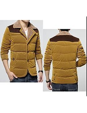 MHGAO Por la chaqueta chaqueta caliente chaquetas de invierno Nueva Ropa de Hombre , khaki , l