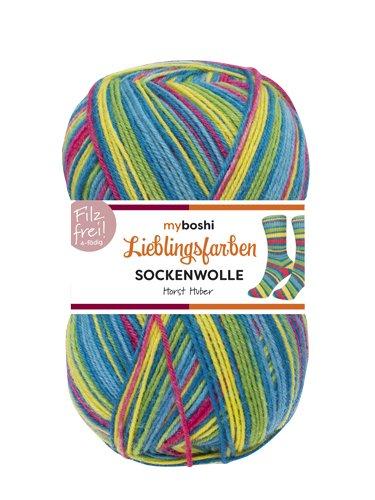 Lieblingsfarben Socken-Wolle 4-Fädig Häkel-Strickgarn für Strümpfe je 100 g Pro Knäuel und 420 m Lauflänge, Maschinenwaschbar bis 40 Grad … Horst Huber
