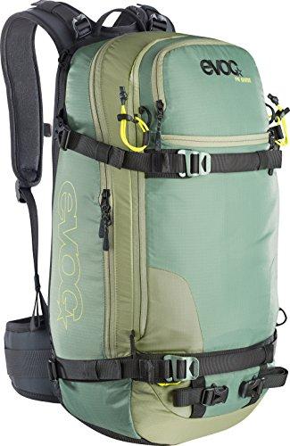 Evoc FR Guide Protector Rucksack, Unisex, Protektor Rucksack FR Guide, Olive-Sulphur, 60 x 27 x 22 cm, 32 Liter