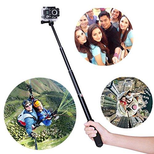 YOHOOLYO Perche Selfie Gopro Perche Télescopique Perche pour Gopro Extensible Monopode pour GoPro Hero 4/3+/3/2 SJ4000 SJ5000 Sony Action Cam / Nikon / Canon / Sony / Panasonic / Olympus