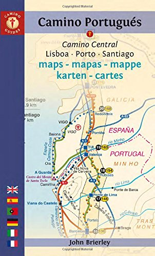 Mapa-Guía Camino portugués (Lisboa a Santiago). Edición multilingüe. Camino Guides. (Camino Maps)