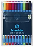 Schneider Slider Edge Stylo-bille non rétractable Couleurs Assortis Pochette de 10