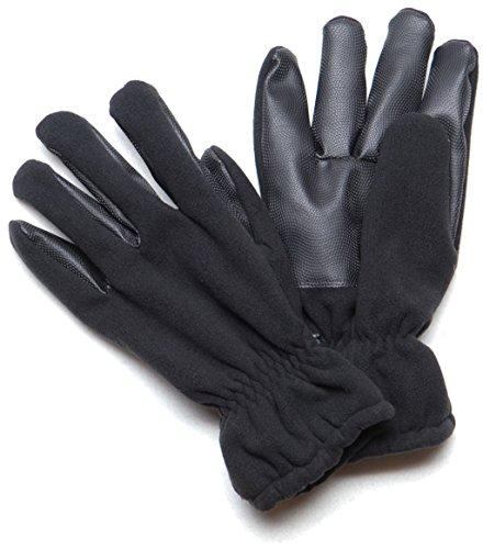 Warme & Weiche Fleece Handschuhe Alpina Winterhandschuhe in Flecktarn, Oliv oder Schwarz S-XXXL (XXXL, Schwarz)