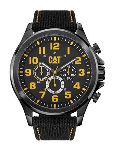 CAT operatore-Orologio da uomo al quarzo con Display analogico e cinturino in Nylon, PU.169,67.117, colore: nero