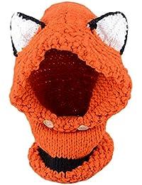 Richoose Winter-warme Coif Hauben-Schal-Kappen-Hut Earflap Fox gestrickte Wolleschal-Kappen-Hüte für Baby scherzt Mädchen-Jungen, Orange