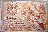 Beruf Dachdecker Blechschild Schild Blech Metall Metal Tin Sign 20 x 30 cm