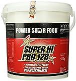Powerstar Food Super Hi SUPER HI PRO 128, Top-Protein, 5000g Eimer mit Meßlöffel, Protein-Bestseller von höchster biologischen Wertigkeit 128, Geschmack: Natur