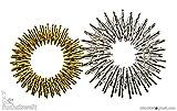 2 x 2er Fingermassageringe Akupressur Energie-Ring Massageringe Gold klein und...