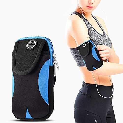 DFYTY Tasche Für Telefon Auf Hand Sport Running Armband Bag Case Cover Armbands Universal Mobile Phone Bags Holder Outdoor Sport Arm Pouch Blau -