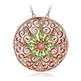 JewelryPalace Vintage Filigrane 0.7ct Marquise Cut echte Peridot Anhänger Halskette 925 Sterling Silber 18 Zoll Box Kette