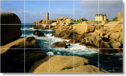 FARO FOTO MURAL BAñO AZULEJO L028  36 X 152 4 CM CON (15) 12 X 12 AZULEJOS DE CERAMICA
