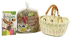 Idea Regalo - HEITMANN DECO--Set: Cesto, Fieno e Uova Colore per Il perferkte-Nest, Naturale, 24x 17x 12cm, 3unità
