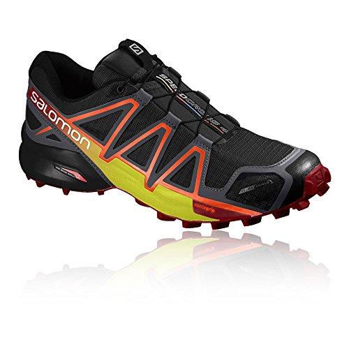 Zapatos Salomón Cucharadas De 4 De Speedcross Hombre Rastro Negro qw4xwIv