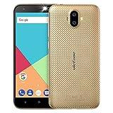 Ulefone S7 3G Smartphone Ohne vertrag günstig Android 7.0 5,0 Zoll HD 1280x720P MTK6580 1.3GHz Quad Core Dual Sim 1GB RAM+8GB ROM 128GB TF Karte Kapazität 8MP+5MP+5MP Kameras(Golden)