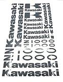 ALOBA kit Stickers Vinyle pour Kawasaki Z1000, découpe de Vinyle avec Support Papier, 300X420mm Disponible en différentes Couleurs (Noir)