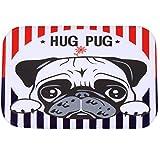 O-C Hug Pug Outdoor Indoor Antiskid Absorbent Bedroom Livingroom Bath Mat Bathroom Shower Rugs Doormats...
