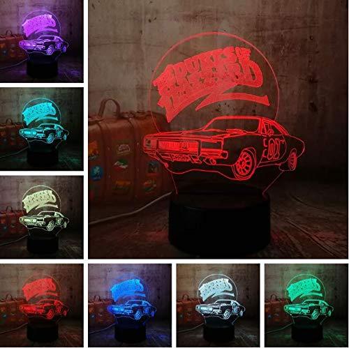 Visuelles Licht 3D Led Auto Nachtlicht Tisch Schreibtischlampe Usb Touch Schlafzimmer Farbverlauf Home Party Decor Illusion Lava