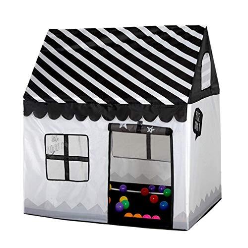 Campfine Floving Girls Indoor Spielzelte für Kinder Eisdiele und Bäckerei Playhouse Palace Zelte (Schwarz / Weiß)