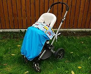 Kaarsgaren Wasserdichte Warme Decke Für Den Kinderwagen Buggy Jogger Farbe Aqua Autos Größe 70 X 100 Cm Aqua Autos Baby