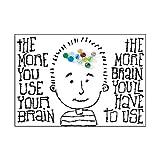 Trend Enterprises Inc. T-A67379 Je mehr Sie Ihr Gehirn Poster
