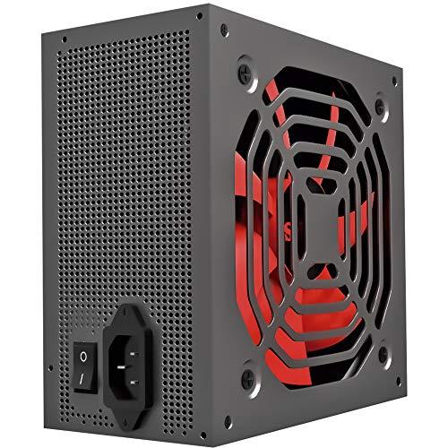 Mars Gaming MPB650 - Fuente de alimentación PC (650 W, 80 Plus Bronze, PFC Activo, ultrasilencioso) Color Negro