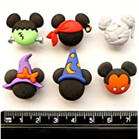 Disney MICKEY HALLOWEEN HATS - Novelty Craft Buttons & Embellishments by Dress It Up