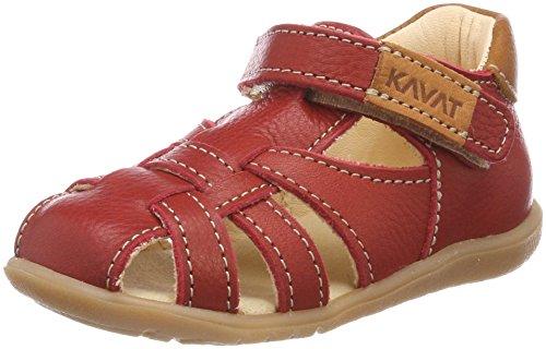Kavat Unisex Baby Rullsand Sandalen, Rot (Red), 19 EU