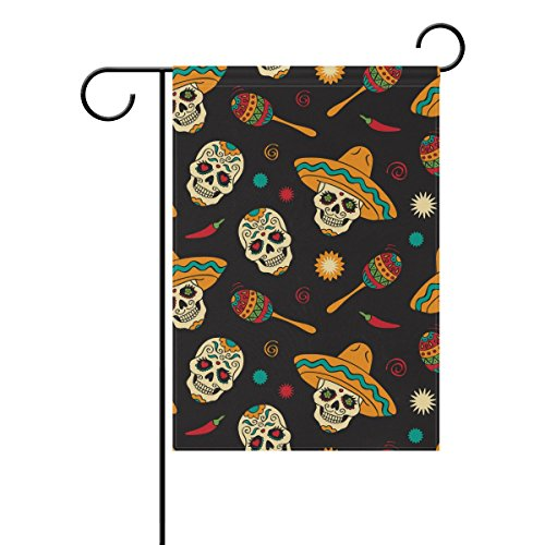 bennigiry Clown Skelett Garten Flagge Hof Dekoration doppelseitig liest Willkommen Flaggen 30,5cm von 45,7cm, Gesponnenes Polyester, Multi#001, ()