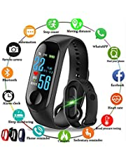 SClout M3 Bluetooth Fitness Smart Health Band/Smart Fitness Band Compatible for All Device (Black)