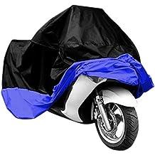 Funda Para Moto TAMAÑO XL Para Exterior, Impermeable Y Contra Los Rayos Solares Para Todas Las Estaciones Del Año - Gran Resistencia - Anti-Polvo - Transpirable