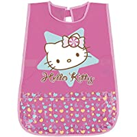 PERLETTI Delantal Infantil de niña Hello Kitty - Bata Escolar Impermeable Bolsillo Delantero - Ideal para