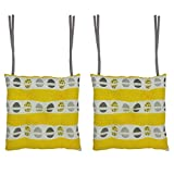 Cotonex Multicolour, Cotton Cushion Chair Pad, 2 Pieces best price on Amazon @ Rs. 399