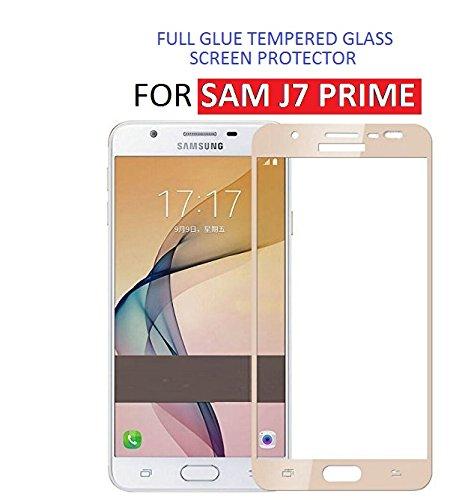 Dashmesh Shopping Premium (Edge to Edge - Full Glue) Front Body Cover Screen Protector Guard for Samsung Galaxy J7 Prime (Soft Gold)
