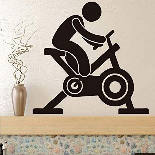 Czxmp Hohe Qualität Spin Bike Wandaufkleber Wohnzimmer Dekorative Vinyl Aufkleber Abnehmbare Wasserdichte Wohnkultur Für Gym44 * 42 Cm