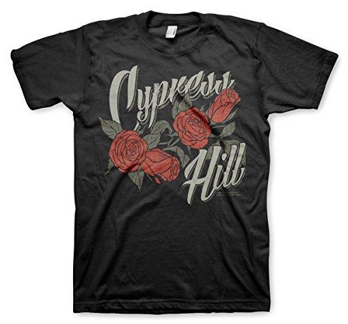 Cypress Hill Officiellement sous Licence Flower T-Shirt Pour Hommes (Noir), Medium