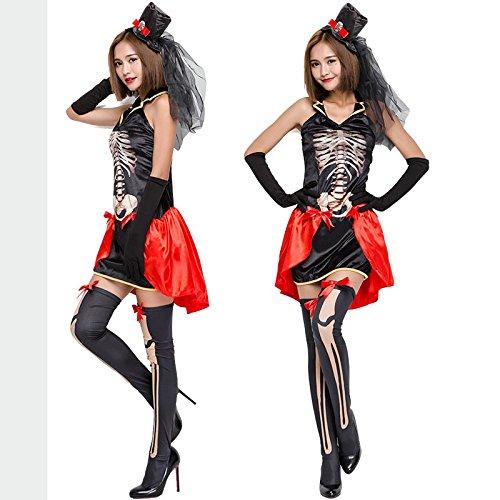Halloween Kostüm Schädel Skelett Geist Braut Uniformen Vampir Teufel Fraktion Party Kleid Festival / Halloween / (Braut Schädel Kostüm)