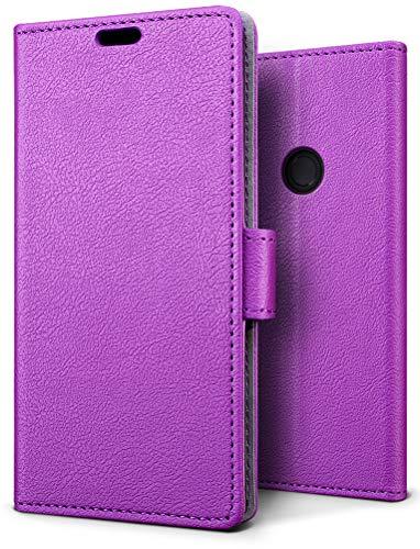 SLEO Funda para Xiaomi Redmi Note 5 Pro/Redmi Note 5 Carcasa Libro de Cuero Ultra Delgado Billetera Cartera [Ranuras de Tarjeta,Soporte Plegable,Cierre Magnético] Case Flip Cover