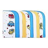 LULANDO Baby-Waschlappen und Waschtücher 25x25cm (10er Set). Waschbares Babytuch aus Baumwolle für Jungen und Mädchen, Farbe: Autos