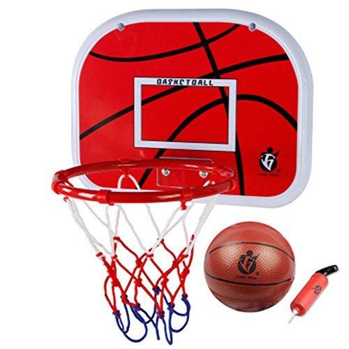 Mini Basketball Set fürs Zimmer mit Ball und Pumpe für Kinder,Goldbeing Basketballkorb Kinder 38CM Wandmontage Boards Backboard + Korb Standard Basketball Schießen Hoop
