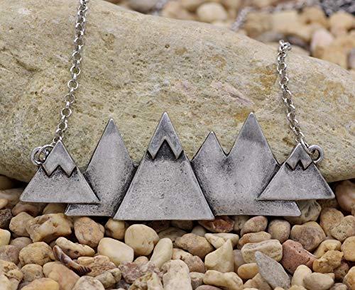 Kostüm Berge Mann - DADATU Halsketten für Herren Männer Frauen Silber-Snow-Berg-Halskette Outdoor Halskette Bridesmaid