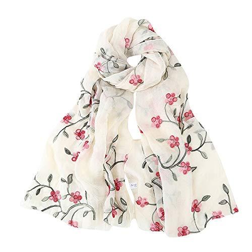 Amphia Damen Stickerei Chiffon Schal Hijab Wrap Tücher Stirnband Muslim Hijabs Schal Damen Schal - Womens Muslimischen Langen Schal Schal Quaste Baumwollschals stahlen Wrap