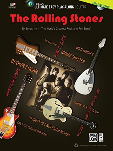 Ultimate Easy Guitar Play-Along: The Rolling Stones  |  Gitarre  |  Buch & DVD (Alfred's Ultimate Easy Play-Along) (Alfred-gitarre Dvd)