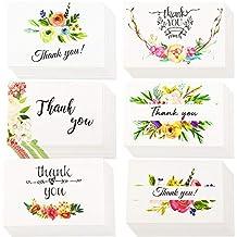 INTVN Tarjetas de Agradecimiento con Sobres Tarjetas de felicitación para bodas, Graduación, Baby Shower