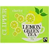 Clipper Fairtrade Green with Lemon 80 Teabags 160 g (Pack of 6)