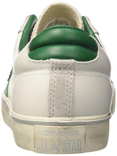 Converse Herren Pro In Pelle Vulc Ox Sneakers Weiß (bianco / Tavolo Da Biliardo / Tortora)