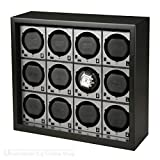 Beco Boxy HOUSE für Fancy Brick Uhrenbeweger – SCHWARZ – inkl. Grundplatte für die Stromspeisung von 1 bis 12 modularen Fancy Brick Uhrenbewegern dank Power Sharing Technologie – von Beco Technic - 4