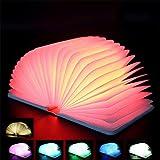LED Nacht Lampe bunte Buchform Magische Illusion Lampe Falten Buch Lampe Kinderzimmer Home Decoration Bestes Geschenk Automatische Erkennung 7 Farben ändern USB Powered Schreibtisch Lampen